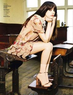 """Dreaming of Dior: """"Cyclone Stacy"""" Stacy Martin for Glamour Italy May 2015"""