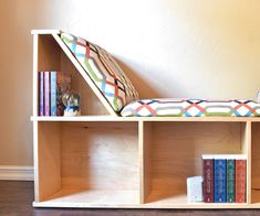How to Build an Awesome Reading Nook With Book Storage.