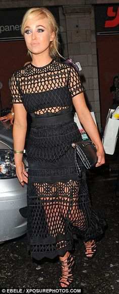 Fashion-forward style: The 27-year-old Hollyoaks actress cut a pristine figure - not a hai...