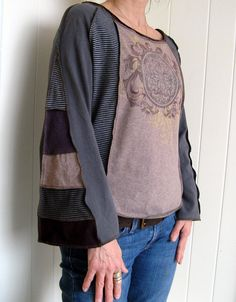 Upcycled Tshirt Top by Turnaround Designs