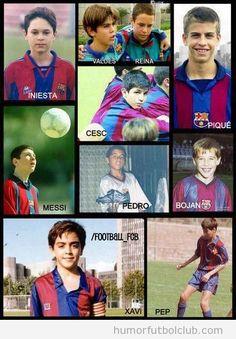 BArça players as kids