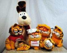 Garfield Mania  Lot of 7 Stuffed Toys  1980s plus par RogueRetro,