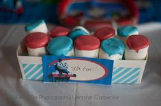 Salt car with marshmallows