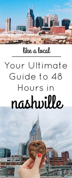 "Space Guide Like a Local: Your Ultimate Guide to 48 Hours in Nashville - Chasing Lovely - I've been living in Nashville for 5 years now and have been meaning to write this ""Ultimate Guide to Nashville"" for quite some time. Nashville Vacation, Living In Nashville, Tennessee Vacation, Nashville Tennessee, East Tennessee, Weekend In Nashville, Nashville Food, Shopping In Nashville, Girls Trip Nashville"