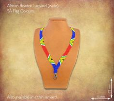 African Beaded Lanyards - SA Flag Colours
