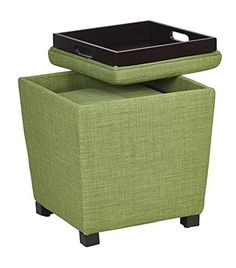2-Piece Ottoman Set with tray top Milford Grass