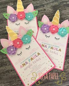 Is the next children's birthday party under the motto unicorn? When children make invitations to their birthday parties themselves, the pre … - Unicorn Themed Birthday, Unicorn Birthday Invitations, Party Invitations, Invitation Ideas, First Birthday Parties, Birthday Party Decorations, First Birthdays, Birthday Kids, Unicorn Crafts