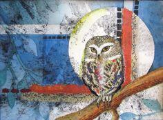 """""""Moonlit""""  Watercolor and mixed media 11""""x15"""""""