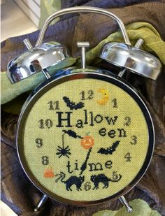Halloween Time is the title of this cross stitch pattern from Needle Workpress that is stith with Gentle Art Sampler threads
