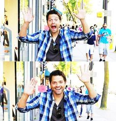 Yay Castiel!!!! - Because not only is he lovable in the show, but Misha seems like a great guy in general :)