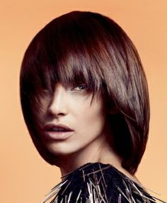 A medium brown straight coloured bob Womens hairstyle by Sassoon