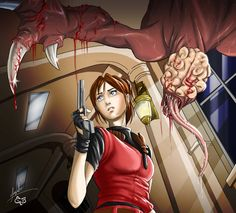 RE 2 Comic: Chapter 4 cover by Maggy-P.deviantart.com on @DeviantArt