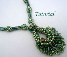 Tutorial: Peacock Necklace by Ellad2 Level: Advanced | JewelryLessons.com