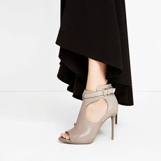 Image 1 of PEEP TOE BOOT-STYLE SANDALS from Zara