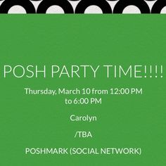IT'S TIME FOR A MID-DAY POSH PARTY!!JOIN ME! YAHOOO!!!  Other