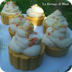 """""""Orange Stars"""" Cup-Cakes di sapone all'Arancia"""