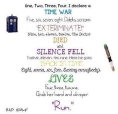 One two three four I declare a time war