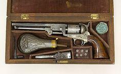 Cased Colt Model 1851 percussion revolver, with accessories.