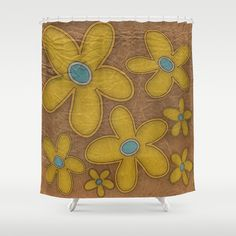 Faded Painted Flowers In The Sun Shower Curtain by Chris Mccormick - $68.00