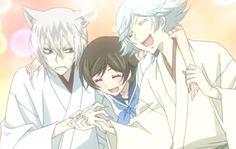 Kamisama Kiss, Tomoe, Nanami, and Mizuki