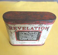 Tobacco Tin, Revelation PipeTobacco Tin  VIintage Made By Philip Morris,  USA