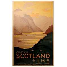 "Original 1930s LMS Railway Travel Poster by RG Praill ""Isle of Skye Scotland"" 