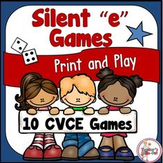 This pack has 10 silent e games to practice the vowel sounds of: a_e, i_e, o_e…