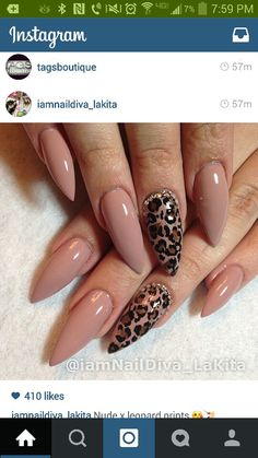 Nude and leopard