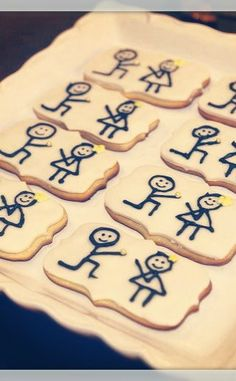 Cute cookies at a Vintage Glam Engagement Party!  See more party ideas at CatchMyParty.com!