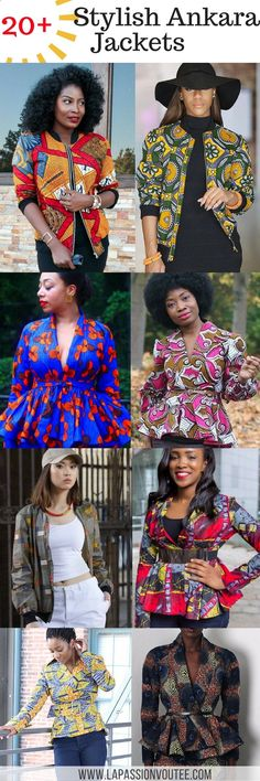 20 trendy Ankara jackets | Be the talk of the town in super stylish African print clothing? Check out this post for over 20 trendy Ankara print jackets that can be worn in a plethora of ways. So many amazing styles in one place. Ankara | Dutch wax | Kente | Kitenge | Dashiki | African print bomber jacket | African fashion | Ankara bomber jacket | African prints | Nigerian style | Ghanaian fashion | Senegal fashion | Kenya fashion | Nigerian fashion | Ankara crop top