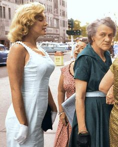 Marilyn Monroe in New York City.