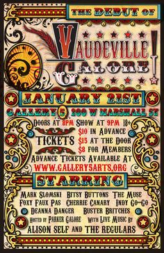 Vaudeville Poster | The Show | Pinterest | Burlesque and Illustrations