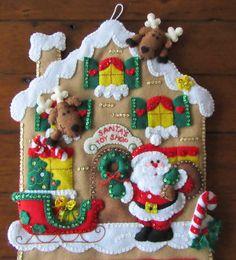 Bucilla Advent Calendar Completed por MissingSockStitchery en Etsy