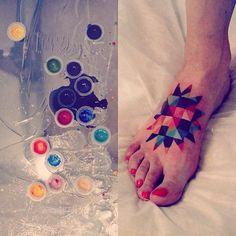 sasha unisex tattoo geometric sun foot piece | Tattoomagz.com › Tattoo Designs / Ink-Works Gallery › Tattoo Designs / Ink Works / Body Arts Gallery