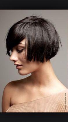 Astonishing Ear Length Hair Oh The Possibilities Pinterest Bobs Angled Short Hairstyles For Black Women Fulllsitofus