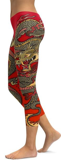 The Chinese emperor uses the dragon as a symbol of his imperial power and strength. Do you sometimes feel like an empress and do you love showing your imperial power and strength? Show this off in our Chinese Dragon Capris, pair yours with a black sneaker or heel and a black top. Wear these capris on a Chinese holiday