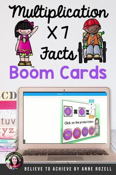 These 30 multiple-choice digital task cards on the BOOM™ Learning website were designed to help students practice their multiplication facts for the 7's from 7 x 1 to 7 x 12 with multiple-choice question style. There are 12 cards with 7 x _=, 12 cards with _x 7= and 6 cards with missing factors. These digital task cards would be great on a laptop, desktop, Chromebook, tablet, or any other mobile device that can access the internet. They can even be used on your Smart Board. Multiplication Facts, Multiple Choice, Task Cards, Curriculum, This Or That Questions, Learning, Resume Cv, Multiplication Facts Worksheets, Teaching Plan