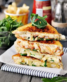 grilled cheese chip butty.. also known as grilled cheese with french fries inside!  all the good things in life, all together.