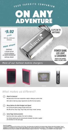 Power Bank, Light and Carabiner all in one!