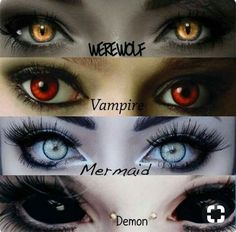 Werewolf Vampire Mermaid Demon for Horror movie Foto Fantasy, Fantasy Art, Fantasy Makeup, Maquillage Halloween, Halloween Makeup, Halloween Ideas, Fantasy Creatures, Mythical Creatures, Regard Animal