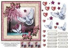 Cherry Blossoms & Doves Card Topper 1