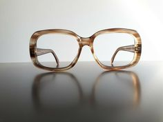 Rare vintage thick brown pre-owned men's glasses 52-16-135 60s glasses Brille #Unbranded #Rectangular #Everyday