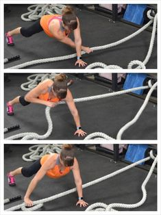 Plange rise are a variation of basic rise that involve bringing the elbows closer to the body when carrying out the exercise. Learn how to do Plange rise with this exercise video. Tire Workout, Kickboxing Workout, Gym Workouts, Fitness Exercises, Battle Rope Workout, Rope Exercises, Stretches, Backyard Gym, Battle Ropes