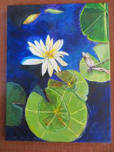 Water Lily with Dragon Fly by SG Criswell