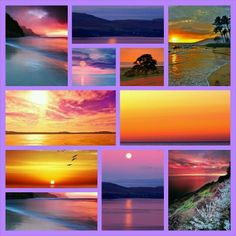 Pretty Beautiful Collage, Beautiful Sky, Colorful Pictures, Nature Pictures, Collages, Beautiful Fruits, Collage Making, Color Pallets, My Favorite Color