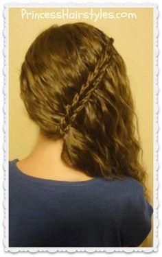 Braided scissor waterfall side swept hairstyle