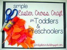 Family Abounds: Simple Easter Cross Craft for Toddlers and Preschoolers
