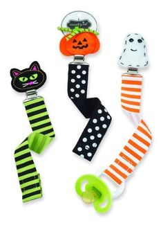 9d9181ce2086 Mud Pie Baby Pacifer Clips   Baby Halloween Pacy Clips  8.99 each Sold at  Baby Family