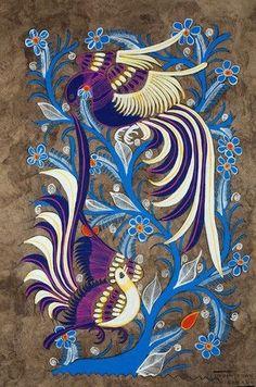 Amate mexicano aves azules Mexican Artwork, Mexican Folk Art, Art Classroom, Chalk Art, Bird Art, Cool Artwork, Art Inspo, Art Drawings, Art Prints