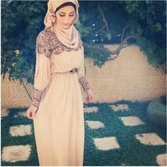 The dress is gorgeous! hijab fashion